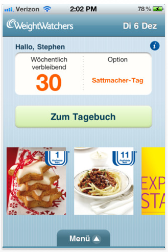 Weight watchers online trotzdem treffen