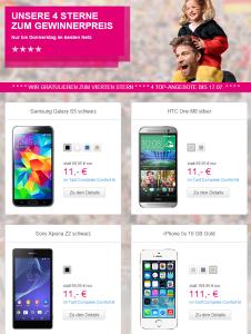 Echte Fan Wochen  Aktionspreis Smartphones   Telekom